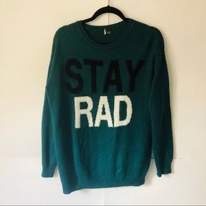"Sparkle & Fade | ""Stay Rad"" Crewneck Sweater"